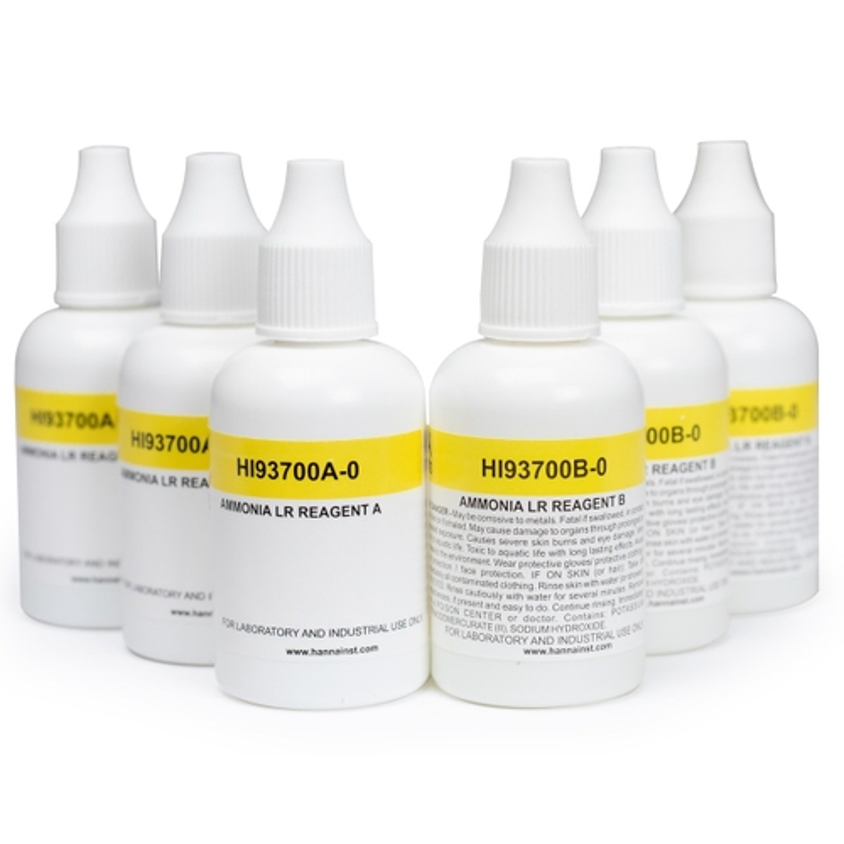 Reactivos para Amoníaco de Rango Bajo (300 pruebas) - HI93700-03