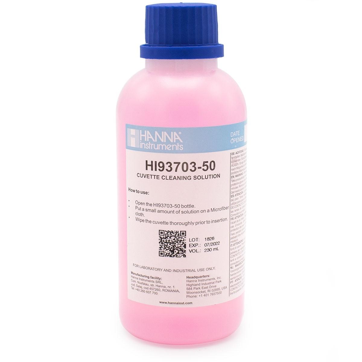 Solución de Limpieza de Cubetas (230 mL) - HI93703-50