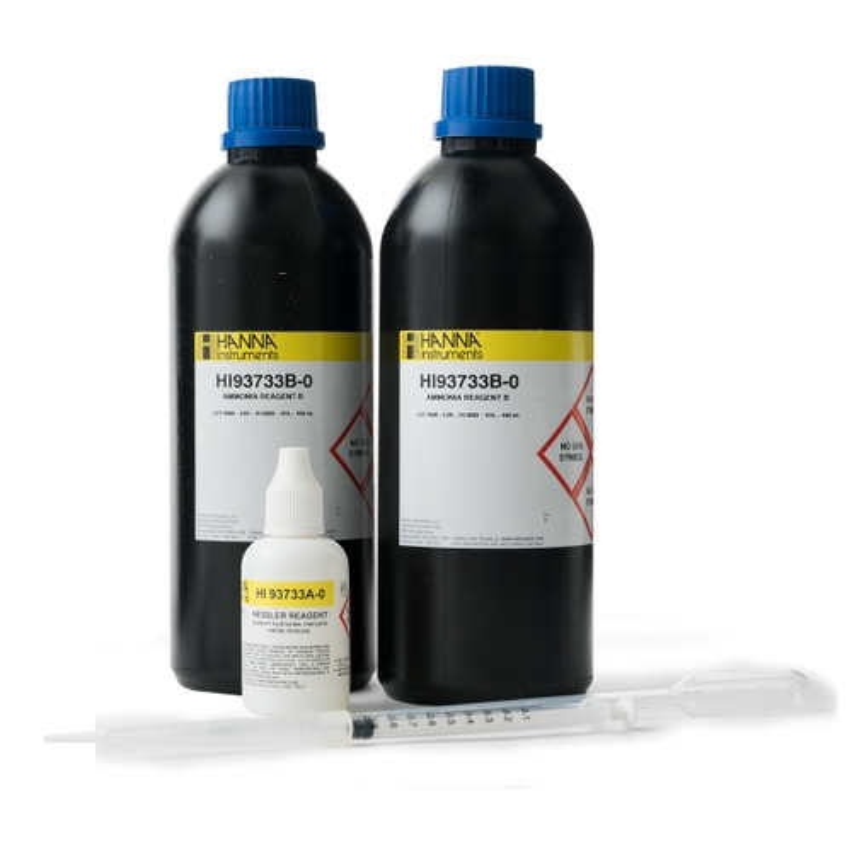 Reactivos de Amoniaco Rango Alto (100 Pruebas) - HI93733-01