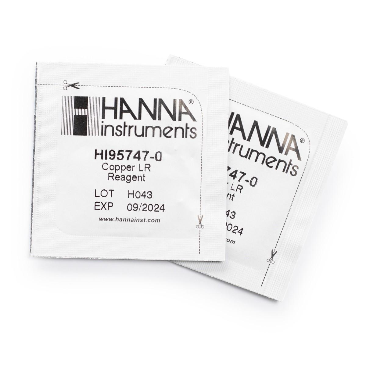 Reactivos para Cobre de Rango Bajo (100 pruebas) - HI95747-01