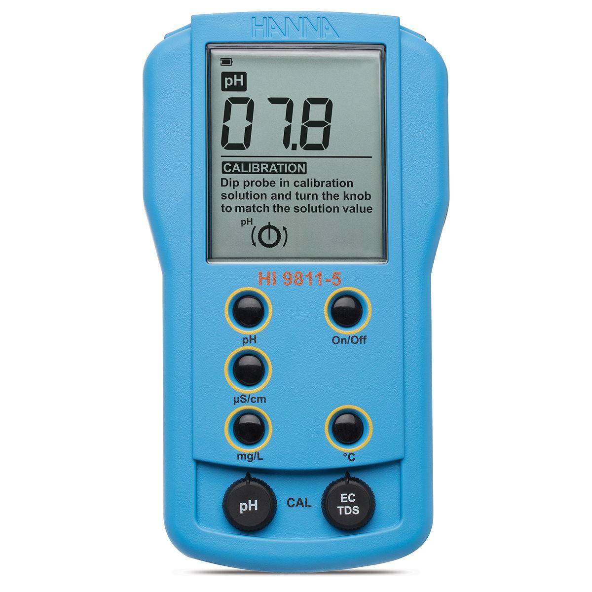 Medidor Portátil de pH / CE / TDS / Temperatura - HI9811-5