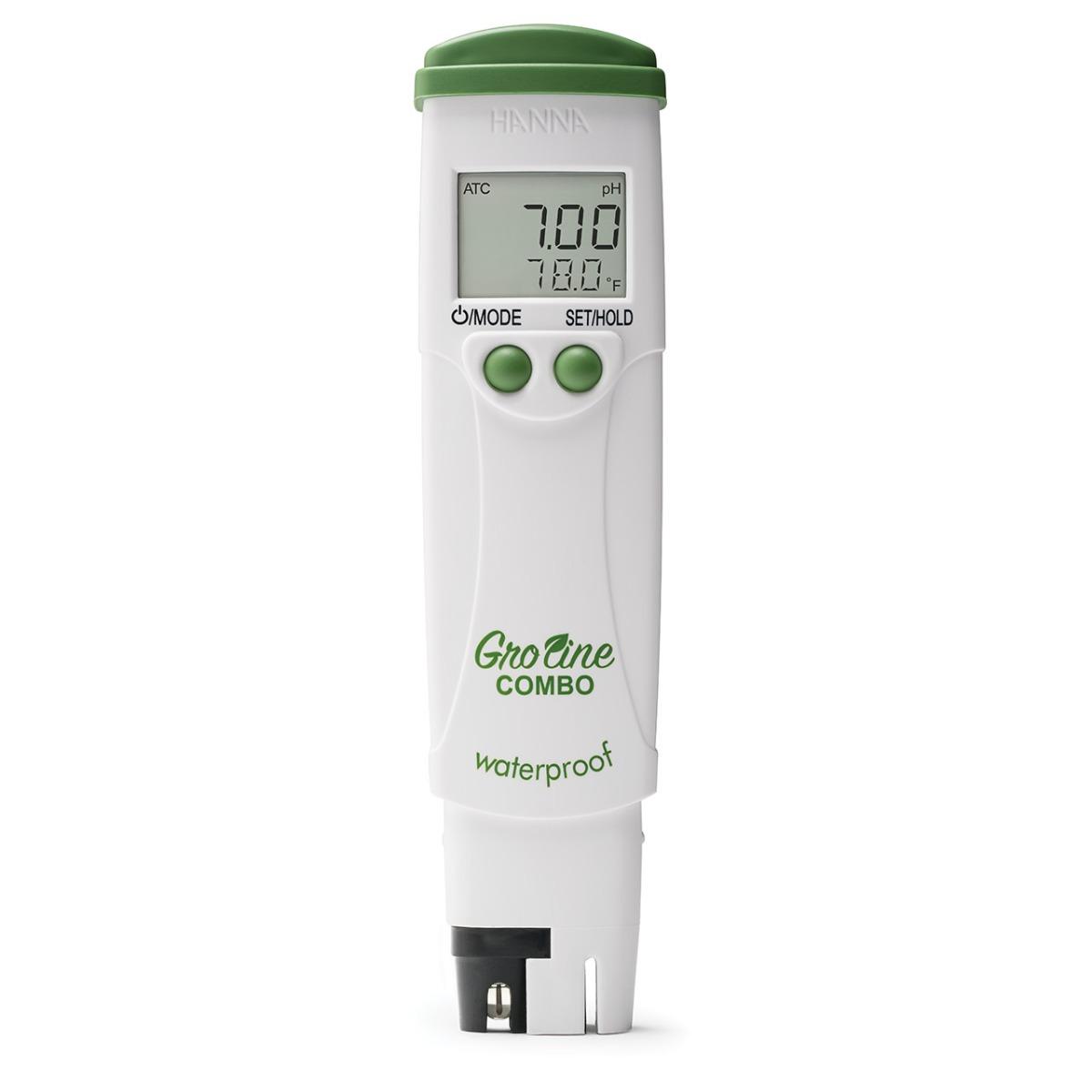 Medidor Portátil e Impermeable de pH / CE / TDS / Temperatura para Hidroponía GroLine - HI98131