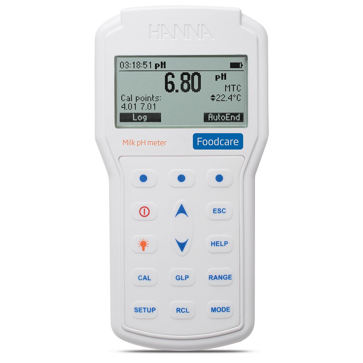 Medidor Profesional Portátil de pH para Leche - HI98162