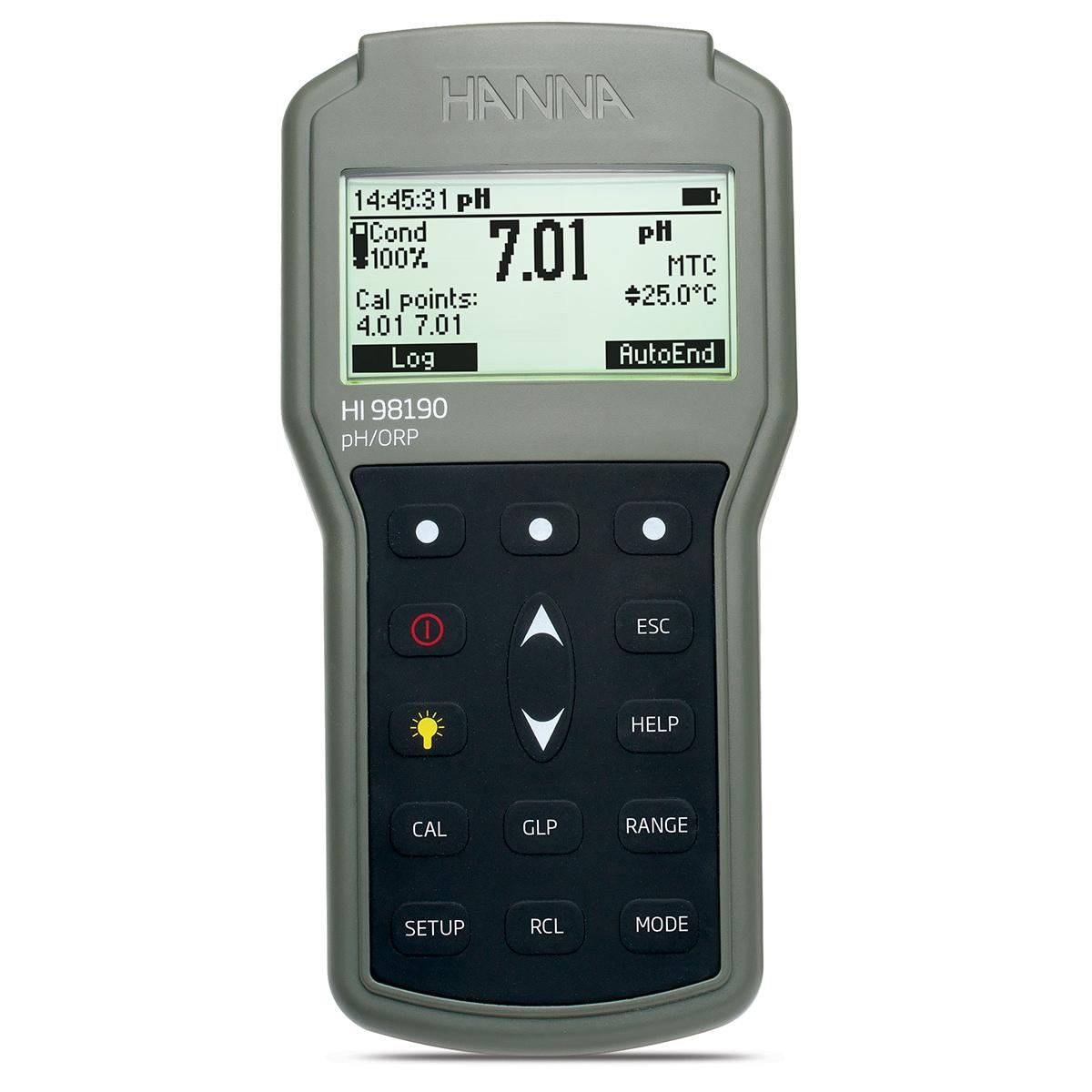 Medidor Portátil e Impermeable para pH / ORP - HI98190