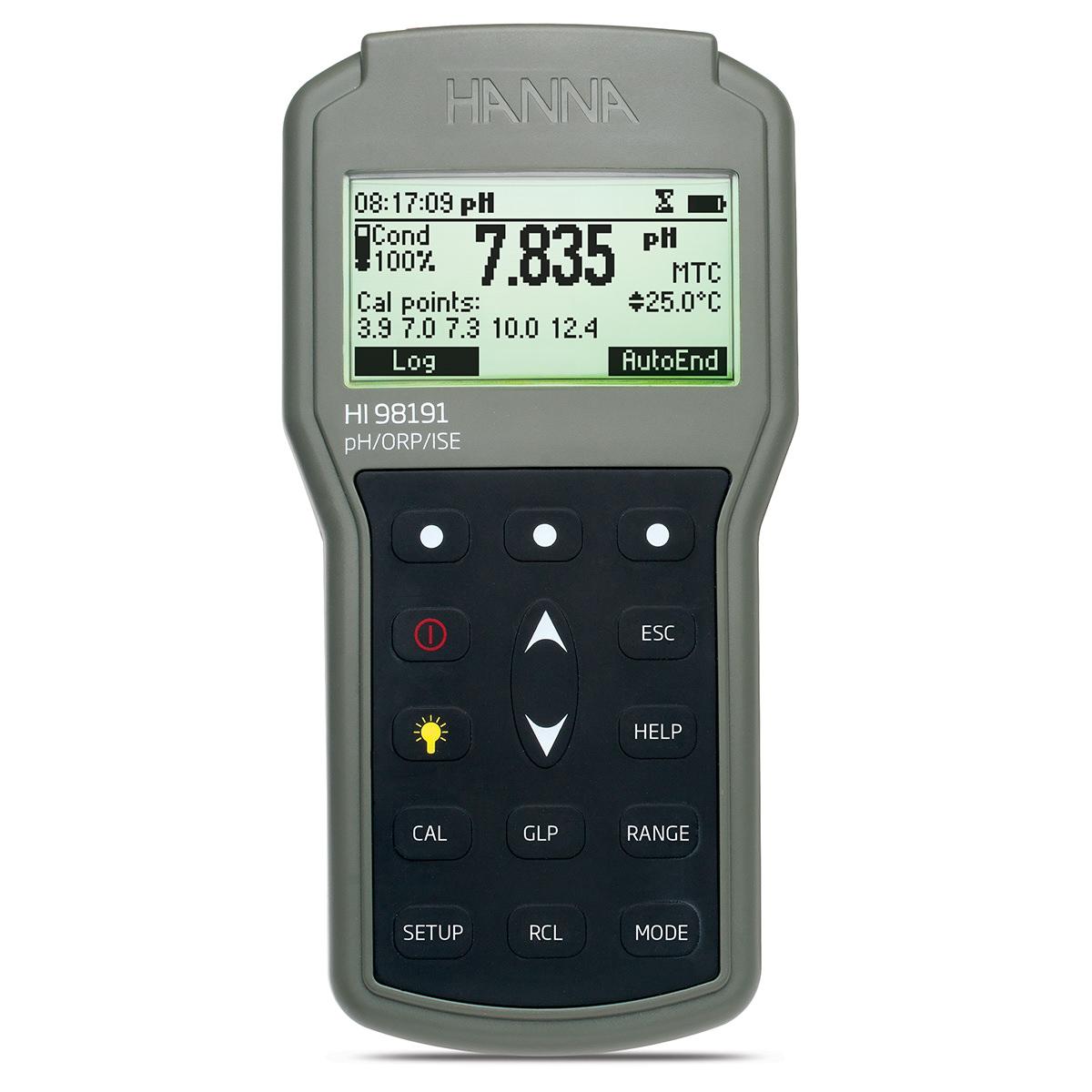 Medidor Profesional de pH / ORP / ISE Portátil e Impermeable - HI98191
