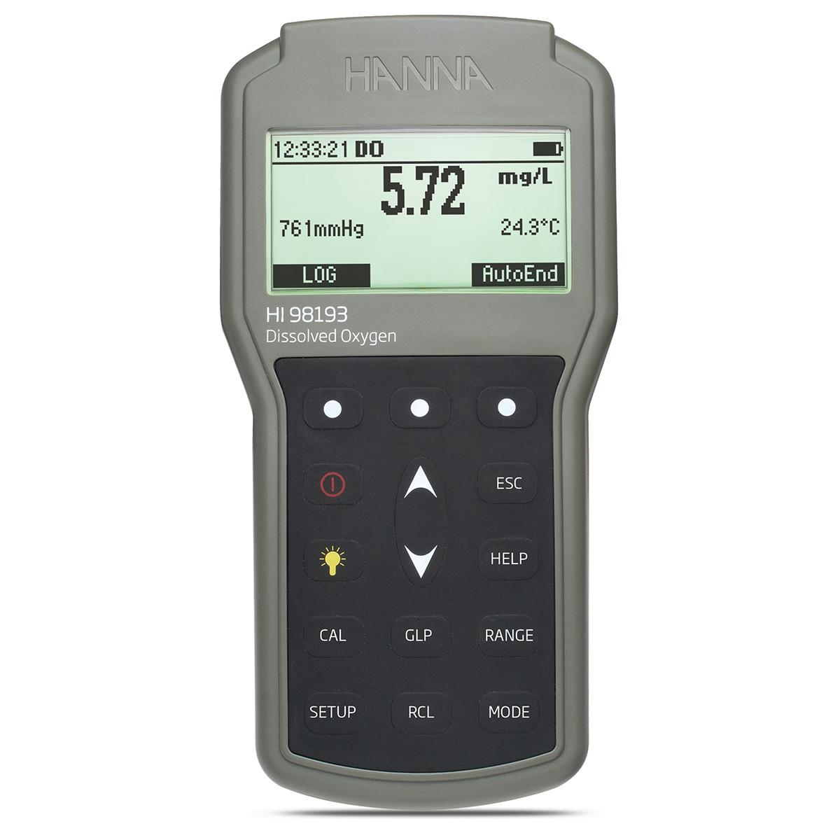 Medidor Portátil a Prueba de Agua para Oxígeno Disuelto y DBO - HI98193