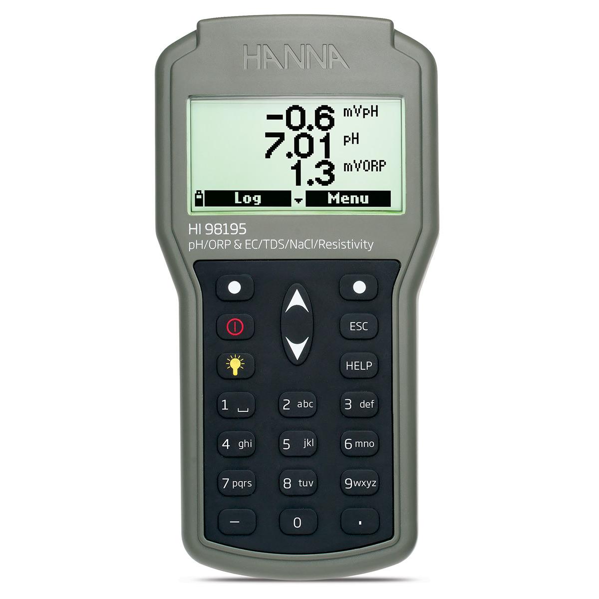 Medidor Multiparámetro Impermeable para pH / ORP / CE / Presión / Temperatura - HI98195