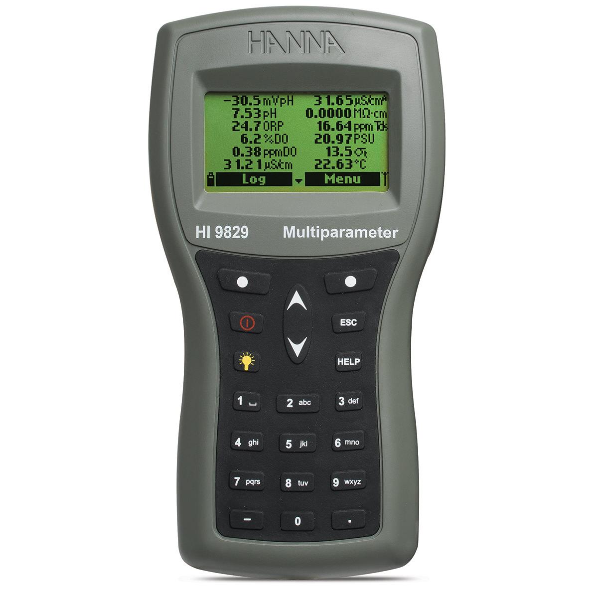 Medidor Multiparámetro Impermeable para pH / ISE / CE / OD / Turbidez con Opción de GPS - HI9829
