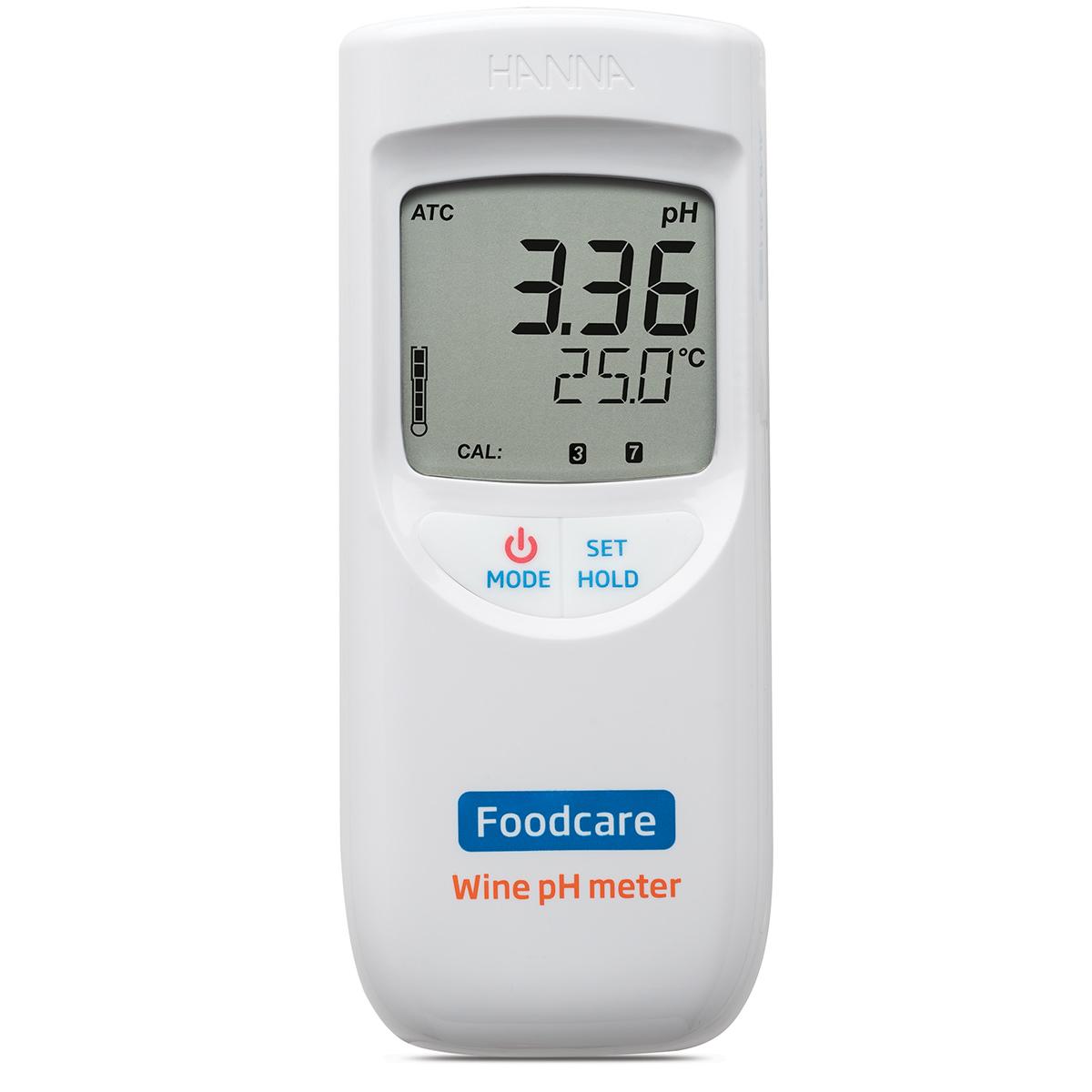 Medidor de pH Portátil para Mosto de Vino y Jugo de Uva - HI99111