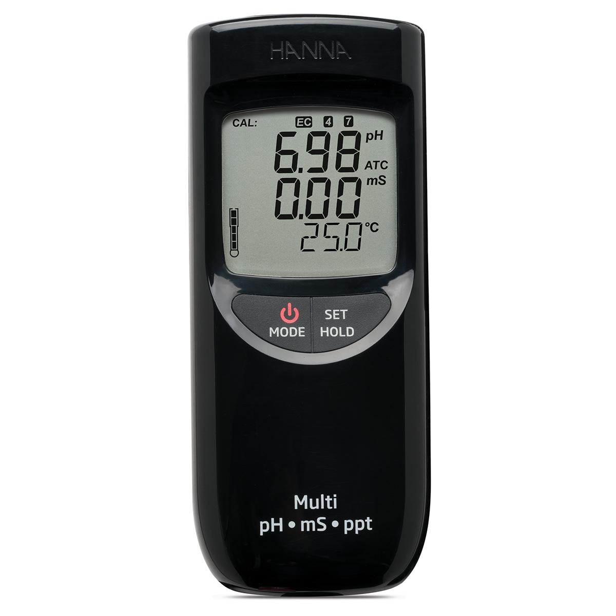 Medidor Portátil e Impermeable para pH / CE / TDS (Rango Alto) - HI991301