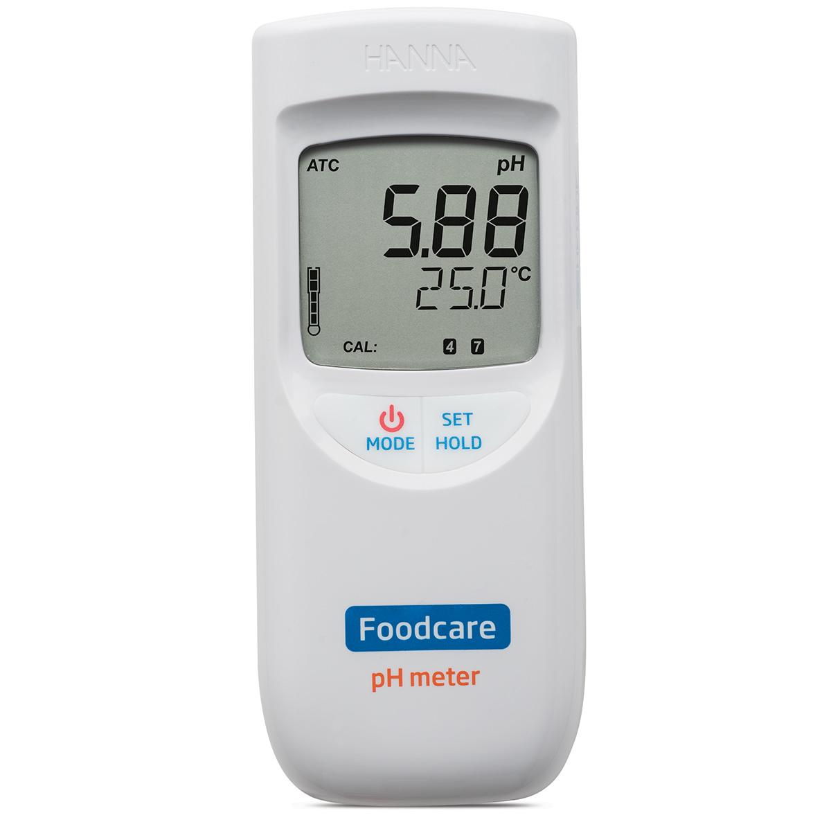 Medidor Portátil de pH para Alimentos y Productos Lácteos - HI99161