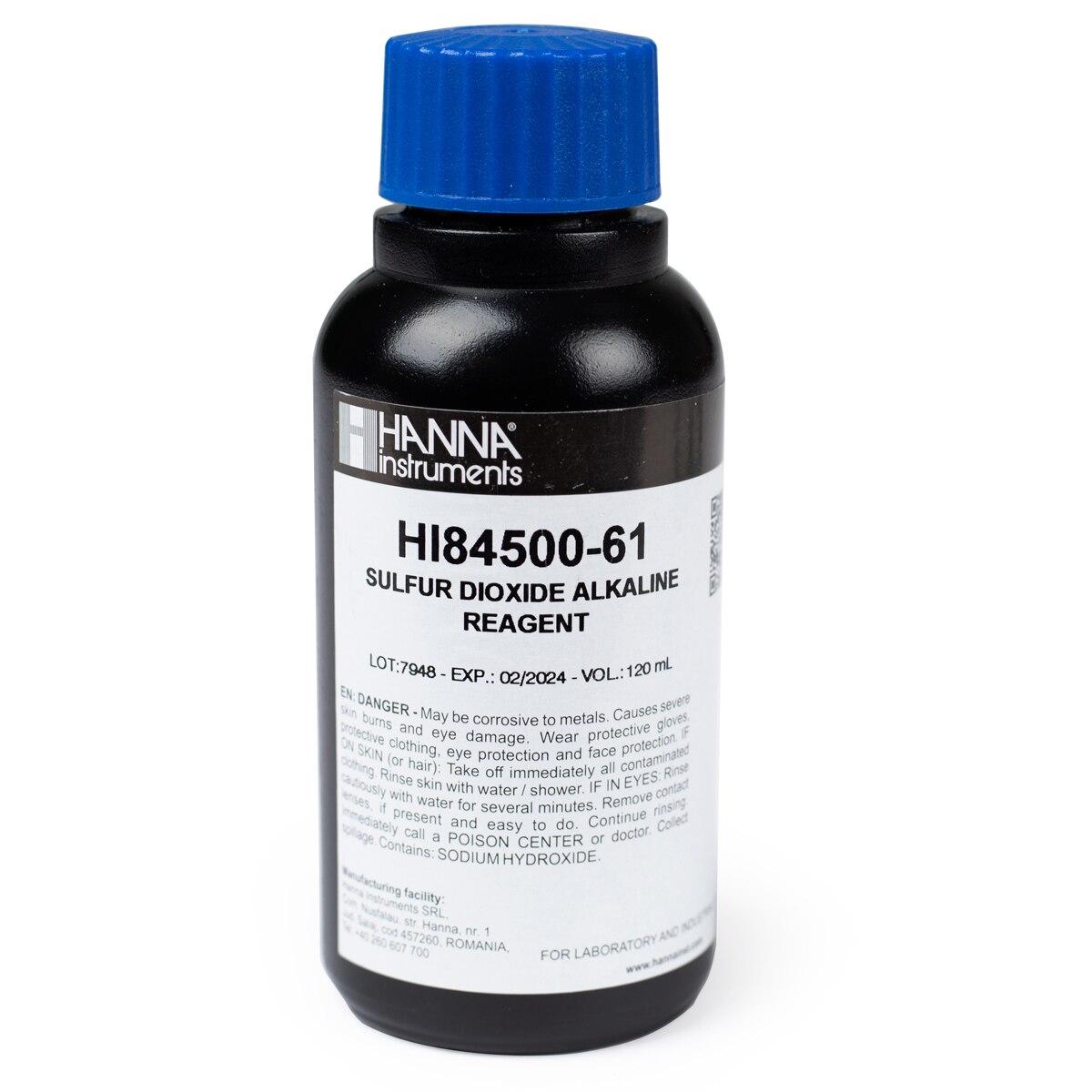 Reactivo Alcalino para Dióxido de Azufre Total en Vino (120 mL) - HI84500-61