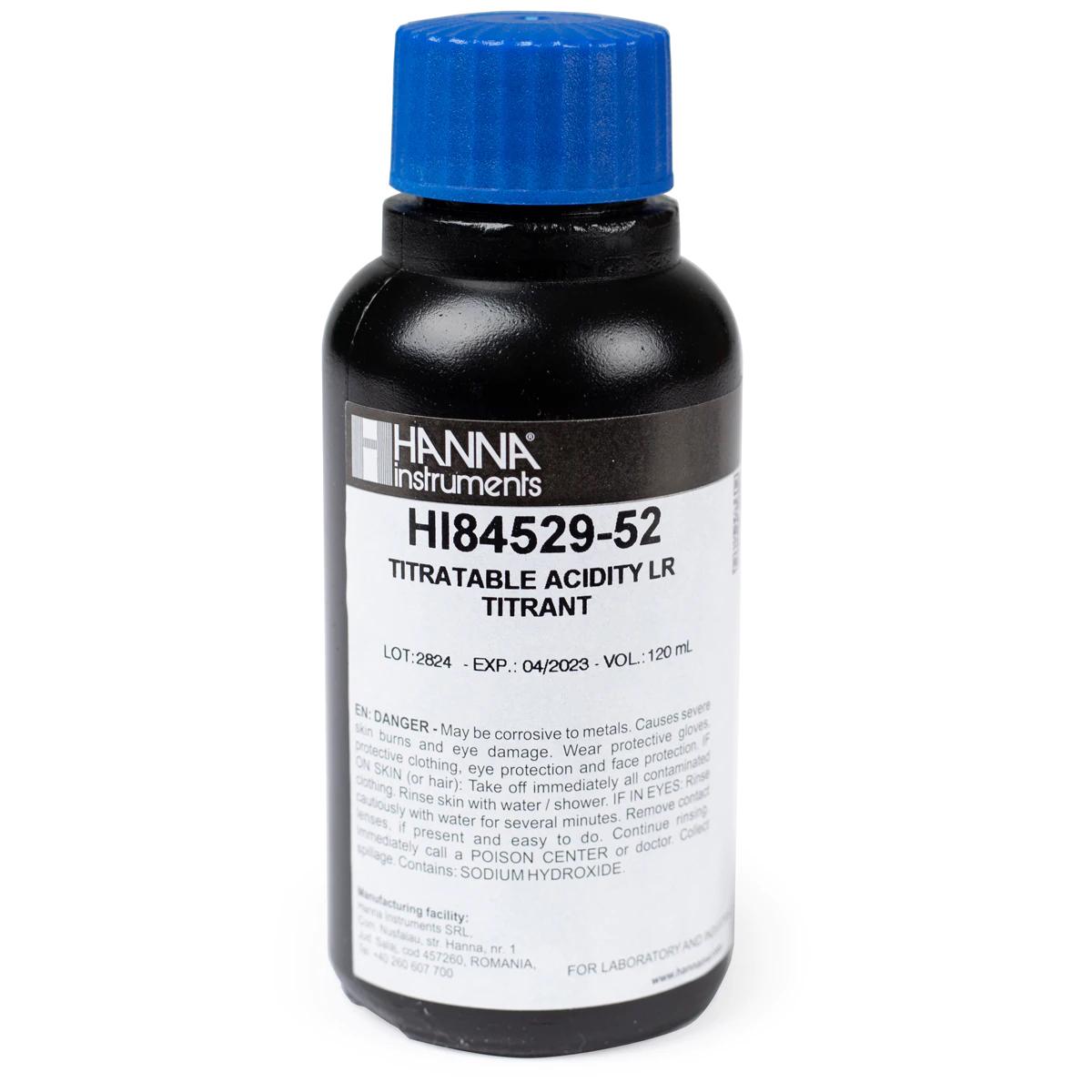 Titulante de Rango Bajo 50 para Acidez Titulable en Mini Titulador de Lácteos - HI84529-52