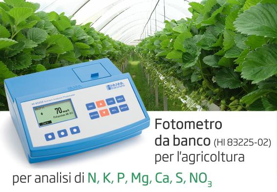Fotometro da banco per analisi di N P K Mg Ca S NO3