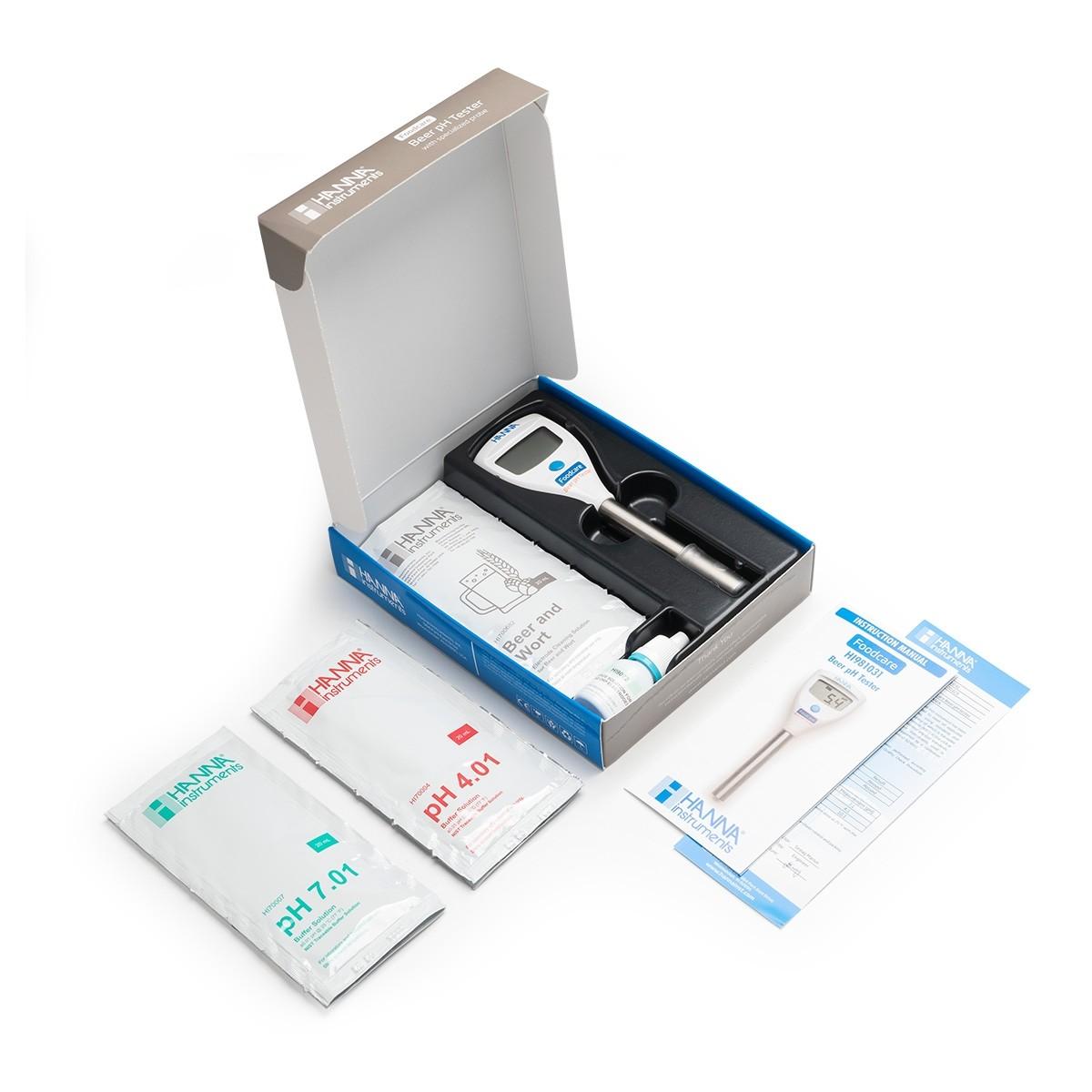 HI981031 beer pH meter box