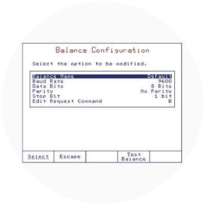 Interfaz de balanza configurable