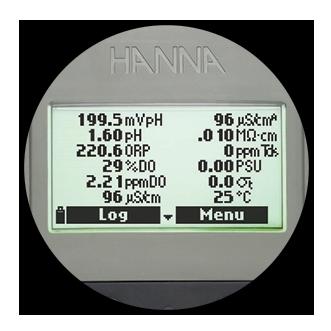 12 parameter display